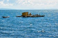 Floating island, Titicaca Lake, Bolivia Stock Images