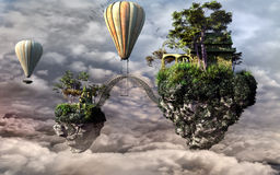 Floating Islands Royalty Free Stock Photography