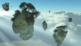 Floating Islands Royalty Free Stock Images