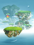 Floating islands royalty free illustration