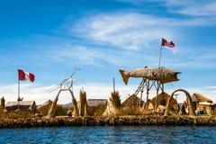 Floating Islands, Titicaca, Peru Royalty Free Stock Photo