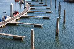 Floating jetty in Dutch harbor Stock Images