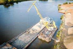 Floating jib crane Royalty Free Stock Photos