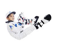 Floating Kid Astronaut Royalty Free Stock Photos