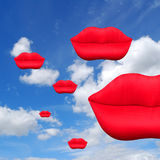 Floating kisses Royalty Free Stock Photography