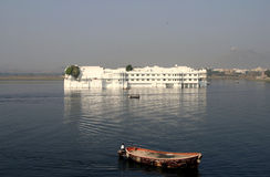 Floating lake palace udaipur india Stock Photo