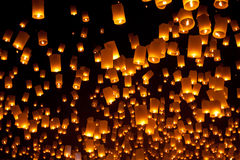 Floating Lantern Royalty Free Stock Images