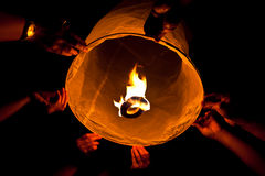 Floating lantern Royalty Free Stock Photo
