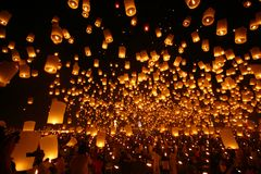 Floating Lantern Stock Photos