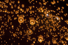 Floating Lantern Royalty Free Stock Photography