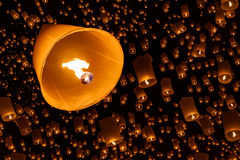 Floating lantern Royalty Free Stock Image
