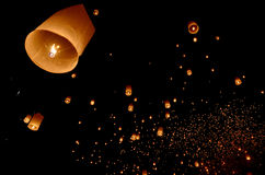 Floating lantern Royalty Free Stock Image