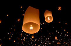 Floating lantern Stock Image