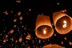 Floating Lantern. Festival Loy Kratong Stock Photography