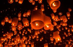 Floating lantern Festiva. Royalty Free Stock Images