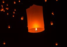 Floating lantern Festiva. Stock Image