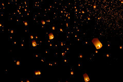 Floating lantern festival in Thailand Royalty Free Stock Photo