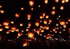 Sky lanterns Royalty Free Stock Images