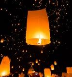 Floating lantern in Thailand Royalty Free Stock Photos