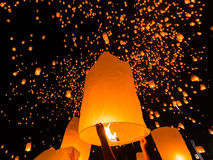 Floating lantern in Thailand Stock Photos