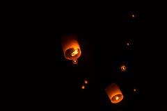Floating Lantern on Yee Peng festival, thai lanna traditional Royalty Free Stock Images