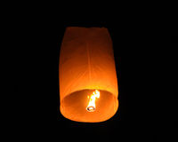 Floating Lantern on Yee Peng festival in Thailand Royalty Free Stock Photography