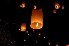 Floating lantern stock image