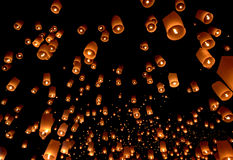 Floating lantern Royalty Free Stock Photos