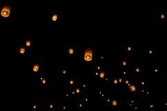 Floating lantern, Yi Peng Balloon Festival. In Chiangmai Thailand stock images