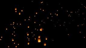 Floating lantern, Yi Peng Balloon Festival. In Chiangmai Thailand royalty free stock image