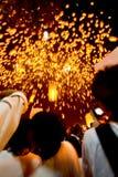 Floating lanterns. Royalty Free Stock Photos