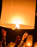 Floating  lanterns Royalty Free Stock Photography