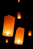 Floating  lanterns Stock Image