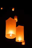 Floating  lanterns Royalty Free Stock Image