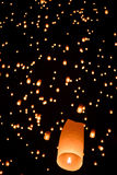 Floating  lanterns Royalty Free Stock Photos