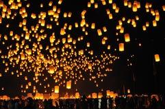 Floating Lanterns Stock Photo