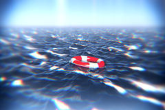 Floating Lifebuoy Royalty Free Stock Photography