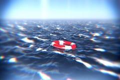 Floating Lifebuoy Royalty Free Stock Photography