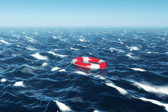 Floating Lifebuoy Royalty Free Stock Photo