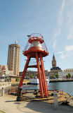 Floating lighthouse in Dunkerque Royalty Free Stock Photos