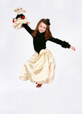 Floating little girl Royalty Free Stock Photo