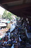 Floating Market 1. Overall view of the famous floating market in Thailand Stock Photo