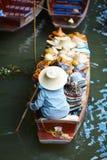 Floating Market. Damnoen Saduak Floating Market near Bangkok, Thailand Royalty Free Stock Images