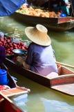 Floating market. Damnoen Saduak Floating Market near Bangkok, Thailand Royalty Free Stock Photo