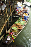 Floating market. Klong ladmayom floating market in Thailand Stock Photos