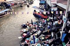 Floating market. Amphawa floating market at Samutsakorn Thailand Royalty Free Stock Image