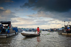 Floating market Stock Photography