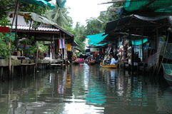 Floating Market. A small section on the floating market in Thailand Stock Photography
