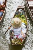Floating Market. Damnoek Saduak Floating Market, Thailand Stock Images