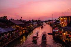 Floating market Amphawa Royalty Free Stock Images